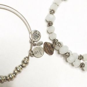 Alex and Ani Jewelry - Alex and Ani Silver Beaded Bracelet Set of Two